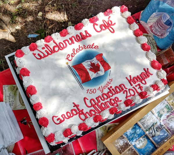 Wilderness Cafe Cake - Great Canadian Kayak Challenge & Festival - Timmins, Ontario