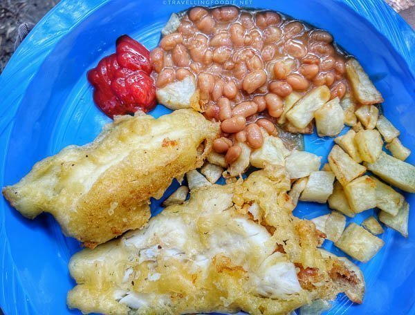 Fish Fry - Beans - Home Fries - Shore Lunch - Great Canadian Kayak Challenge & Festival - Timmins, Ontario