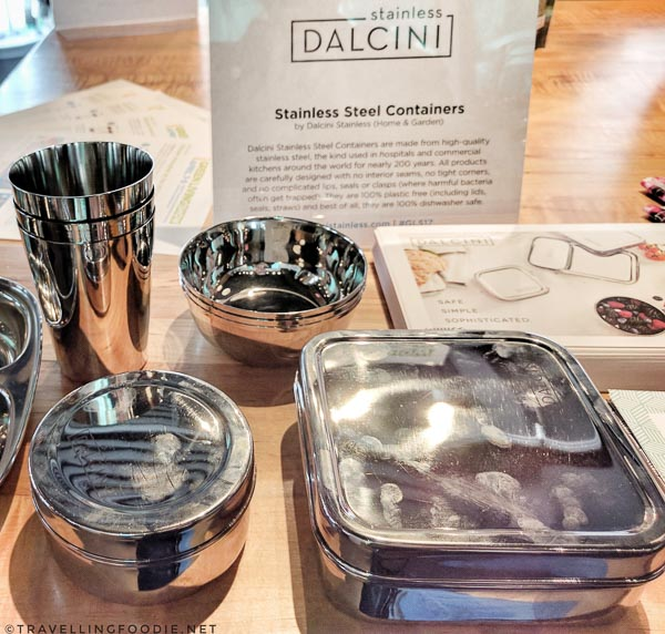 Stainless Steel Containers by Dalcini Stainless at Green Living Show 2017 Media Preview