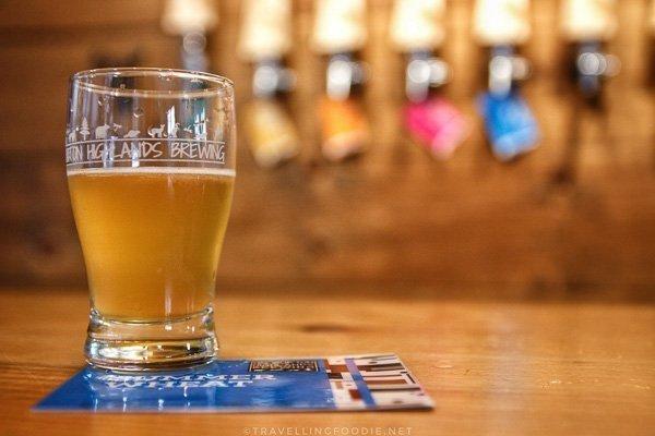 Summer Wheat Beer at Haliburton Highlands Brewing