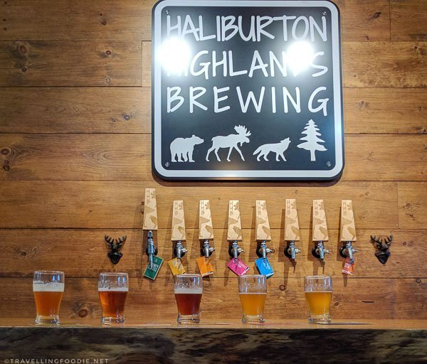 Four Year Round Beers and One Seasonal Beer at Haliburton Highlands Brewing