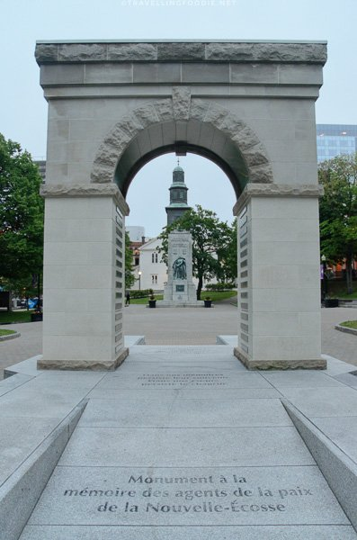 Memorial Arch in Grand Parade in Halifax, Nova Scotia