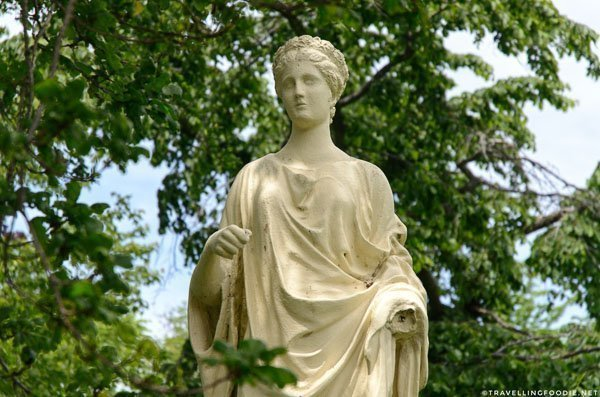 Roman goddess Ceres statue at Halifax Public Gardens in Halifax, Nova Scotia