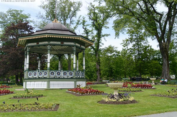 The bandstand at Halifax Public Gardens in Halifax, Nova Scotia