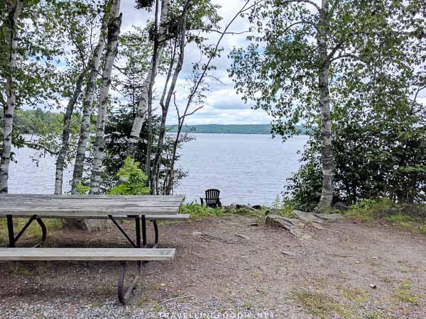 Halls Lake picnic area in Algonquin Highlands, Ontario