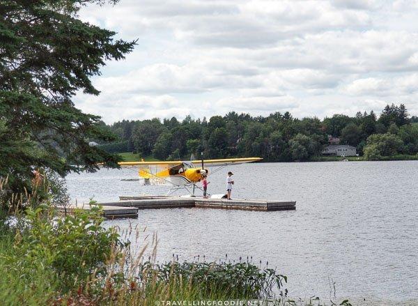 Lake Aircraft in dock at Head Lake, Haliburton, Ontario