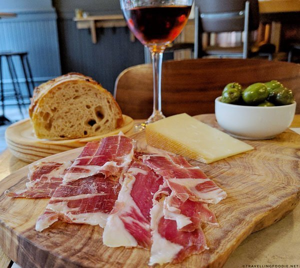 Jamon Iberico, Idiazabel Cheese, Homemade Bread from Highwayman at Halifax