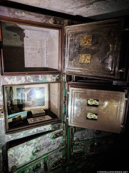 Safety Deposit Boxes inside the Bank Vault