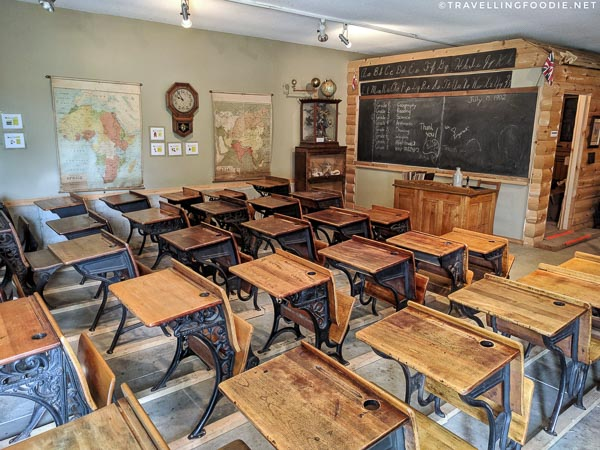1900 classroom in Oxford County Museum School at Ingersoll Cheese & Agricultural Museum in Oxford County, Ontario