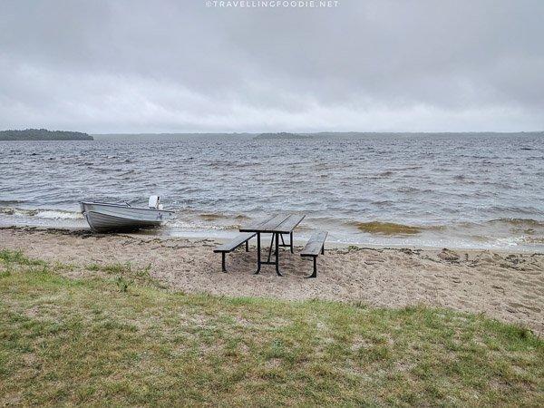 Ivanhoe Beach at Ivanhoe Provincial Park in Sudbury, Ontario