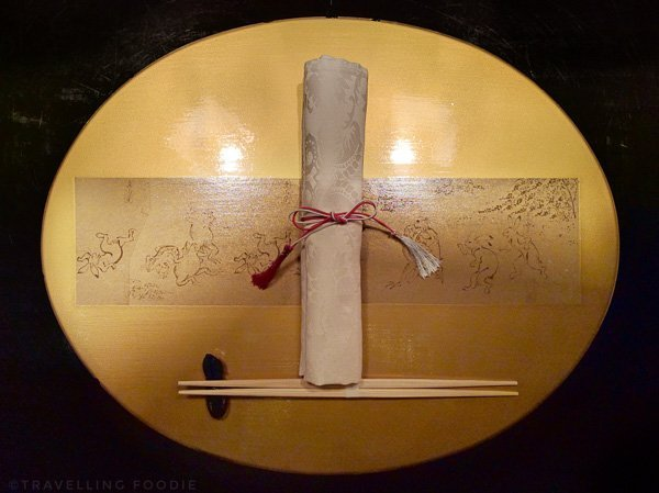 Table Setting at Kaiseki Yu-zen Hashimoto in Toronto
