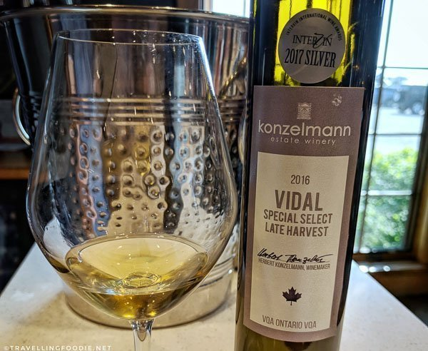 2016 Vidal Special Late Harvest at Konzelmann Estate Winery in Niagara-on-the-Lake, Ontario