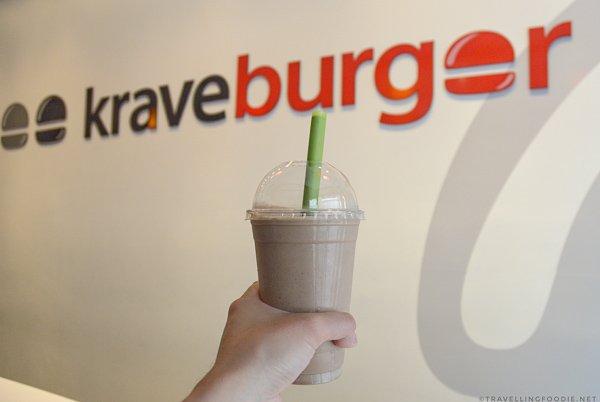 Hazelnut Express Milkshake from Krave Burger in Halifax
