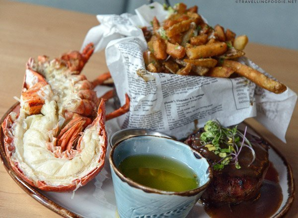 Tenderloin and Half Lobster from Little Fish Oyster Bar at Five Fishermen in Halifax, Nova Scotia