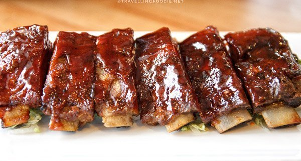 Fall Off The Bone BBQ Ribs at Maple Avenue Tap and Grill in Haliburton, Ontario