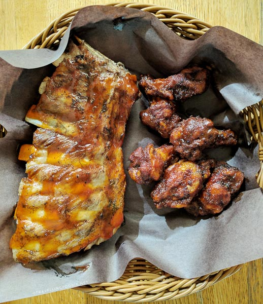 Baby Back Ribs and Chicken Wings at The Mill Pond Restaurant in Algonquin Highlands, Ontario