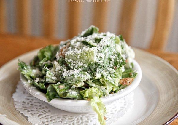 Caesar Salad at The Mill Pond Restaurant in Algonquin Highlands, Ontario