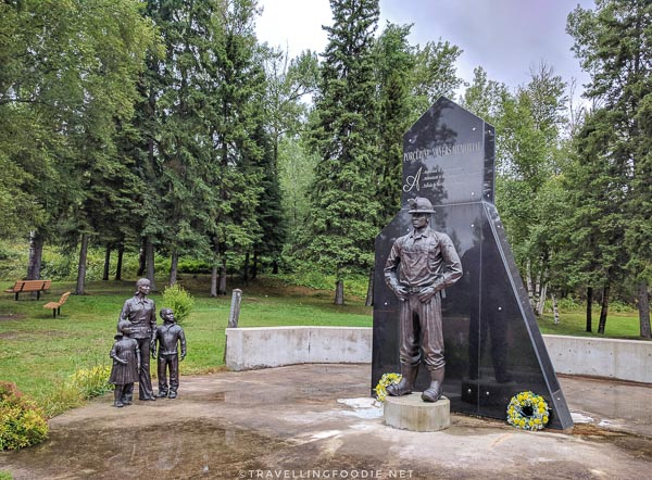 Porcupine Miner's Memorial at McIntyre Park in Timmins, Ontario