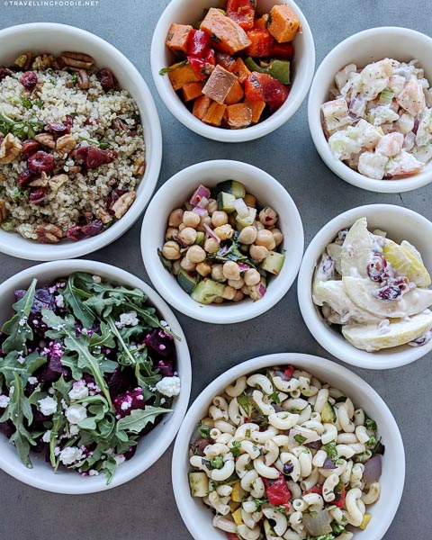 Seafood and Vegetables Salads at Native Sun Natural Foods Market in Jacksonville Beach, Florida