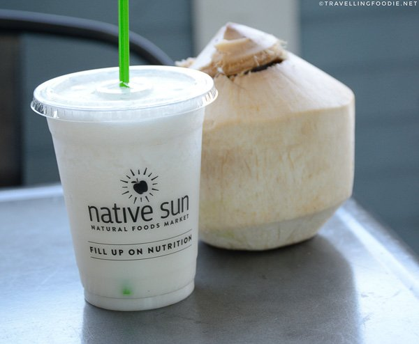 Thai Coconut Smoothie at Native Sun in Jacksonville Beach, Florida