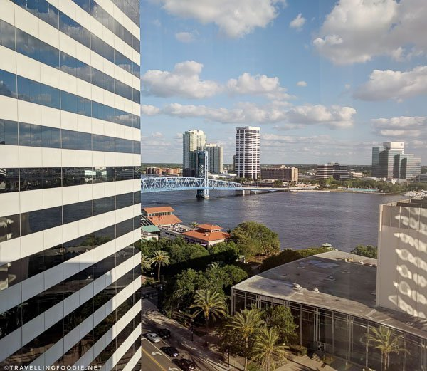 St. Johns River View from Omni Jacksonville Hotel Room