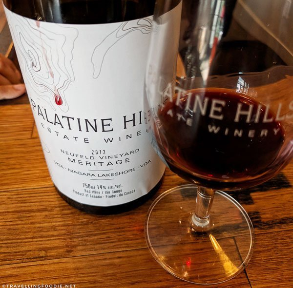 2012 Neufeld Vineyard Reserve Meritage at Palatine Hills Estate Winery in Niagara-on-the-Lake, Ontario