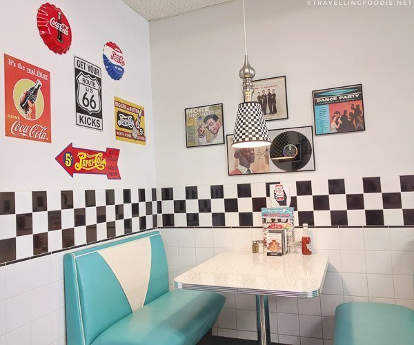50s Diner Theme at Pine Dairy Bar in Timmins, Ontario