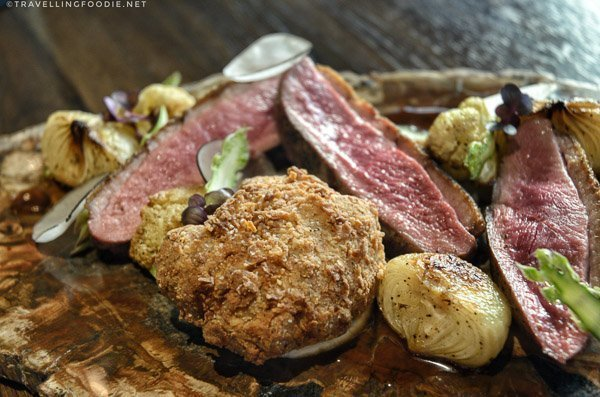 duck breast and sweetbreads at Orsay in Jacksonville, Florida