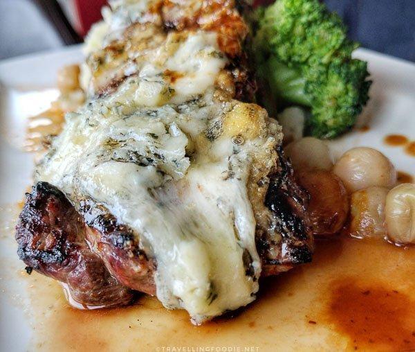Bison Striploin at Rhubarb Restaurant in Minden, Ontario