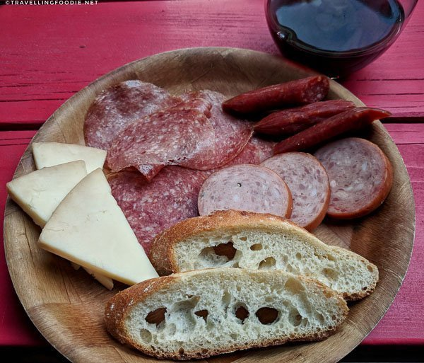 Charcuterie with cheese and Schneiders meats