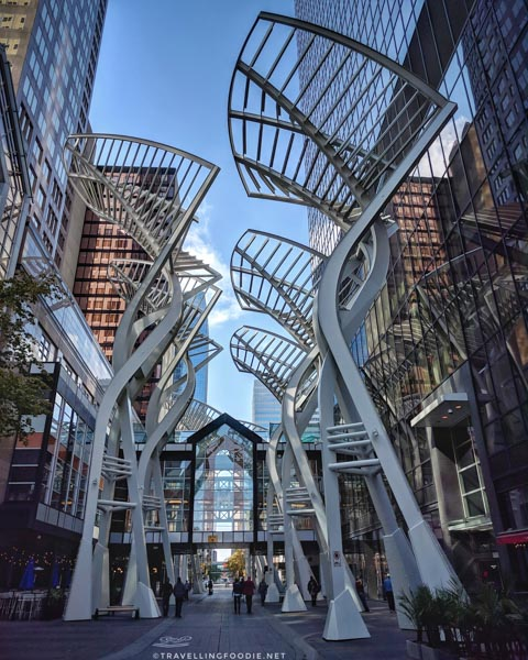 Tree Sculptures at Stephen Avenue Walk in Calgary, Alberta