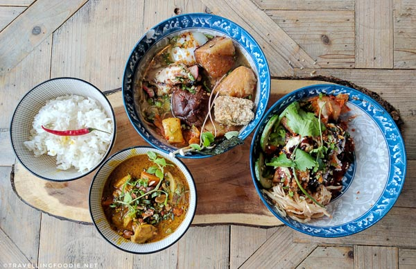 Ramen, Cambodian-Thai Love Curry, Pork Belly Rice Bowl from Studio East Food + Drink in Halifax
