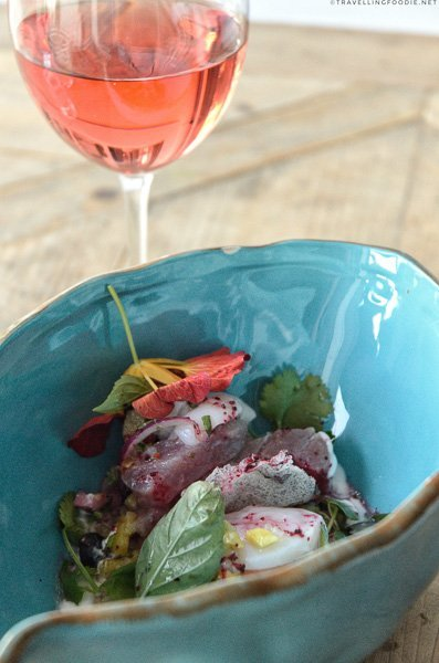 Ceviche with Wine from Studio East Food + Drink in Halifax, Nova Scotia