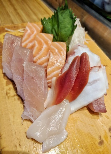 Sashimi Platter at Sushi Bar Zipang in Calgary, Alberta