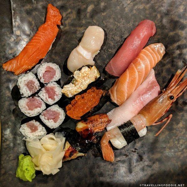 Deluxe Matsu Sushi Platter at Sushi Bar Zipang in Calgary, Alberta