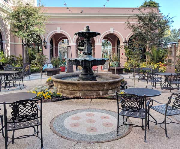 Fountain Courtyard at The Mills House Wyndham Grand Hotel in Charleston, South Carolina