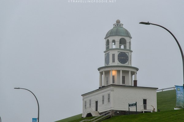 The Old Town Clock in Cloudy Day in Halifax, Nova Scotia