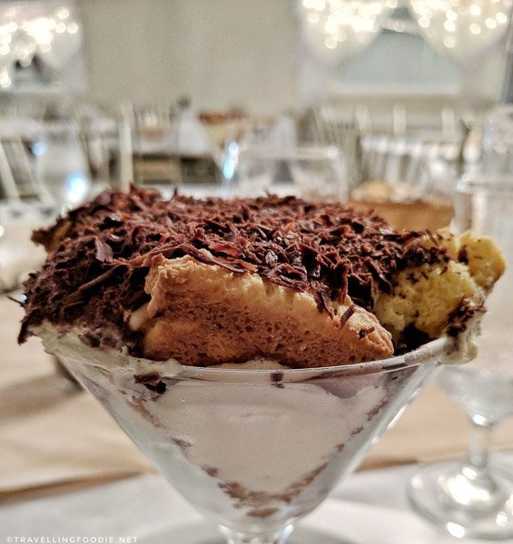 Tiramisu at Dante Club in Timmins, Ontario