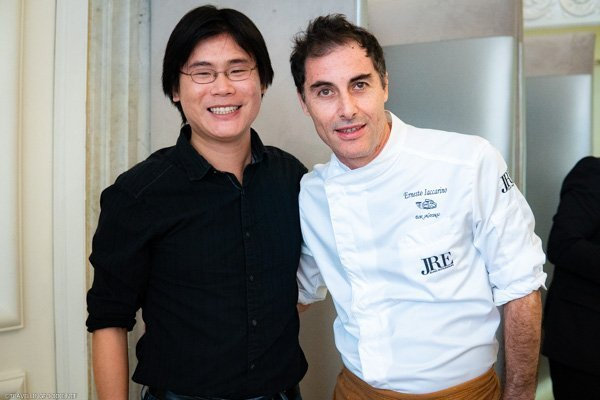 Travelling Foodie Raymond Cua with Michelin Star Chef Ernesto Iaccarino