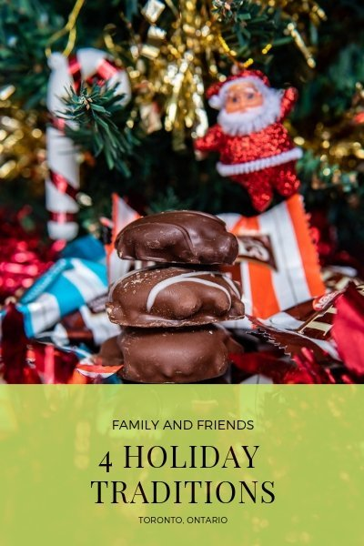 4 Holiday Traditions with Family and Friends in Toronto including TURTLES Chocolates, Yankee Swap, Toronto Christmas Market and Toronto Christmas Trees!