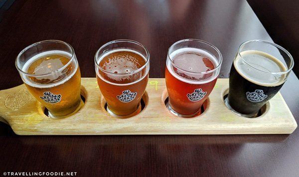 Beer Flight at Upper Thames Brewing Co. in Woodstock, Oxford County, Ontario