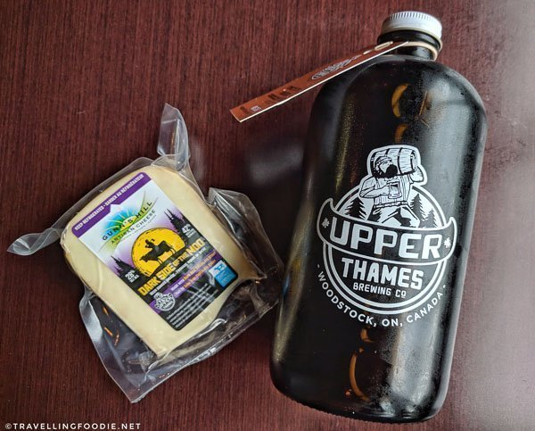 Gunn's Hill Cheese and Growler from Upper Thames Brewing in Woodstock, Oxford County, Ontario