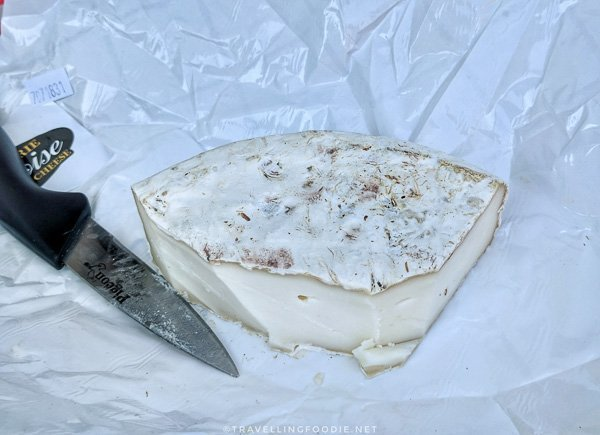 Camembert cheese from Fromagerie Kapuskoise at Urban Park Market in Timmins, Ontario