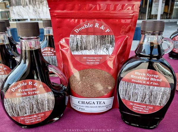 Double R & P: Premium Birch Syrup and Chaga Tea at Urban Park Market in Timmins, Ontario