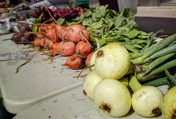 Local Produce from Graham Acres at Urban Park Market in Timmins, Ontario
