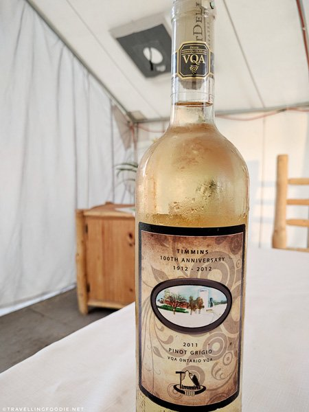 Timmins 100th Anniversary Pinot Grigio 2011 white wine