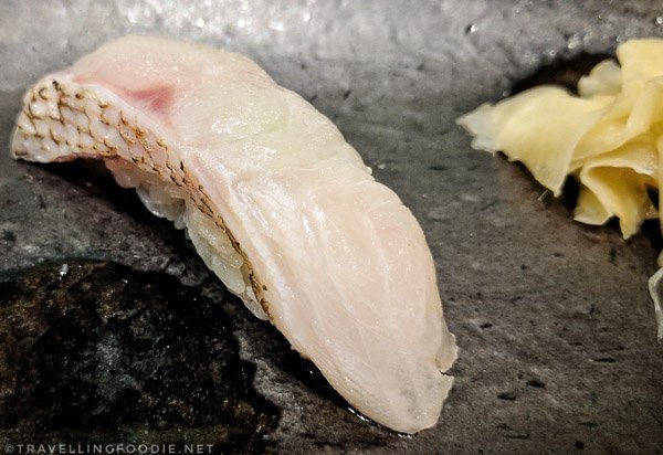 Seared Mutsu (Sea Perch) Sushi at Zen in Markham