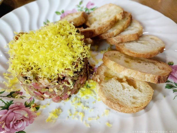 Steak Tartare at 11th Mile Restaurant in Fredericton, New Brunswick