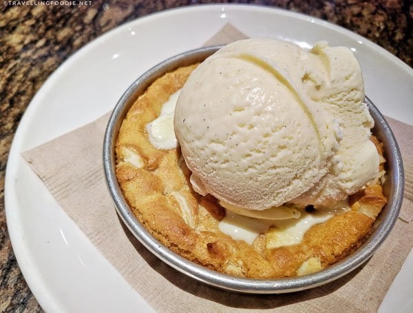 White Chocolate Macadamia Nut Pizookie at BJ's Restaurant and Brewhouse in Torrance, California