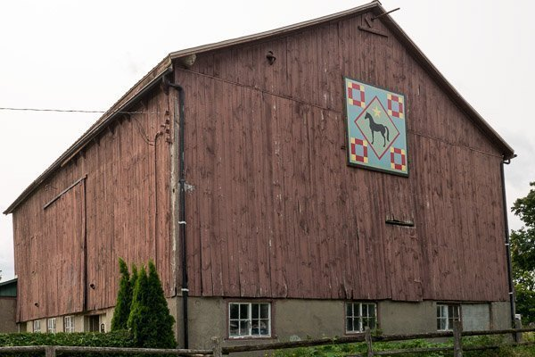 Barn Quilt Trail #19 in Port Hope, Ontario